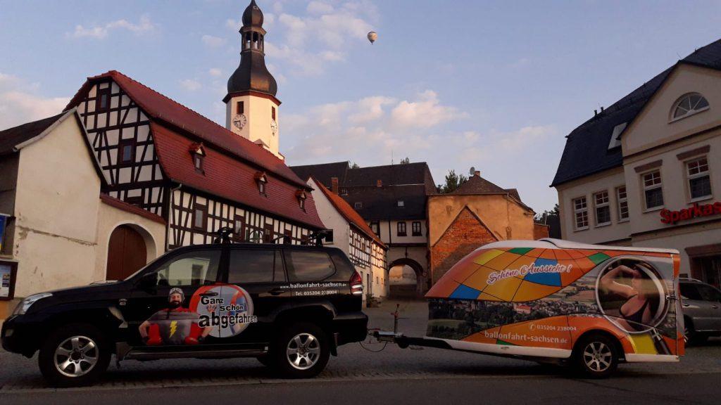 Ballonverfolger Ballonfahrt Sachsen