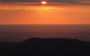 Abendfahrt-Sonnenuntergang-Oberlausitz