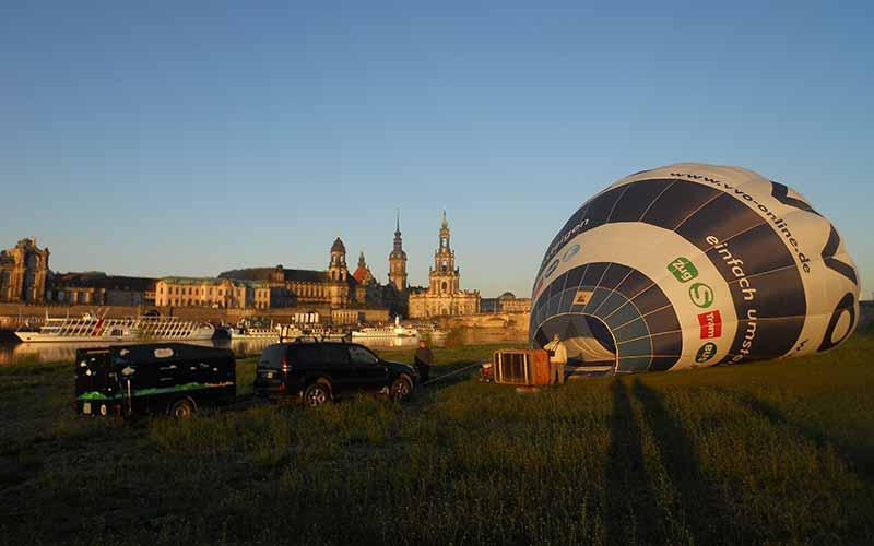 Sonnenaufgang-Ballonfahrt-Dresden